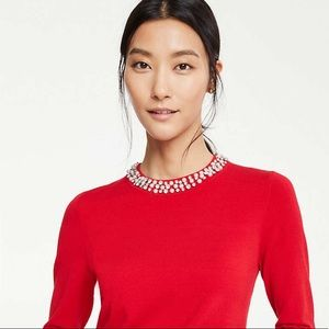 Ann Taylor Necklace Sweater SZ XS